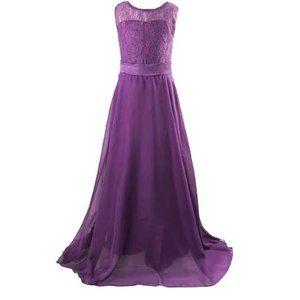 Elegant purple girls dress.